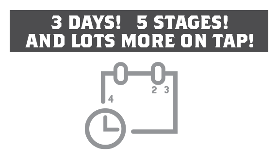 3 Days! 5 Stages!